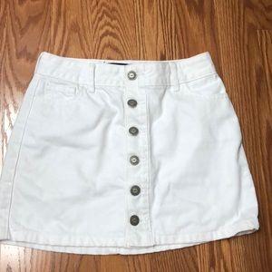 Hollister White A-Line Skirt